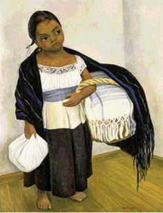 Girl in blue and white, 1939 / Diego Rivera