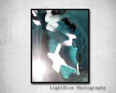Leaf Print Printable Leaf Photography Abstract Digital Print Exotic Leaf picture Printable art Botanical Modern Art Teal BLue decor by LightBluePhotography on Etsy