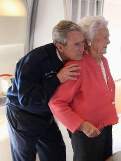 George W. Bush & His Mom