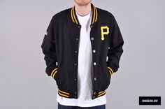 Majestic Pittsburgh Pirates Hewes Letterman Jacket
