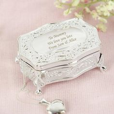 Personalized Small Antique Trinket Box Gift