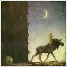 John Bauer - Nordic Myth and Fairytale Art and Illustration John Bauer, Art And Illustration, Illustrator, Fairytale Art, Troll, Fantasy Art, Fairy Tales, Moose Art, Art Prints
