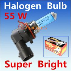 2pcs 9006 55W HB4 55W Halogen Bulbs super white Headlights fog lamps day light running parking 6000K 12V Head Car Light Source <3 Clicking on the image will lead you to find similar product