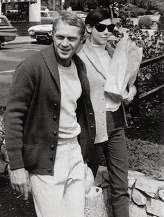 Steve McQueen & Peggy Moffitt. California, 1964 Photos by William Claxton