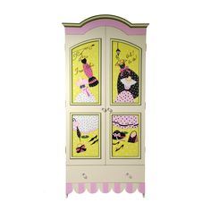 """an ARMOIRE from the """"Miss Lily"""" collection of hand painted furniture by Miss Tati and Friends"""