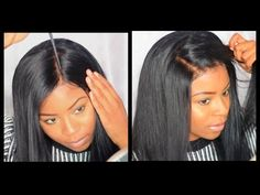 HOW TO APPLY A LACE FRONTAL WIG|NO GLUE,TAPE, SEWING - YouTube
