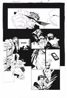 EDUARDO RISSO - 100 BULLETS Nº90 PAGE 17 ( WILT: 100 BULLETS PART II - LOST IN A ROMAN ) Comic Art