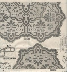 Kira scheme crochet: Scheme crochet no. Filet Crochet, Crochet Motif, Crochet Designs, Crochet Doilies, Crochet Stitches, Knit Crochet, Stitch Patterns, Knitting Patterns, Crochet Patterns