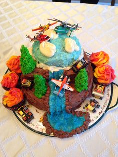Planes Fire and Rescue cake.