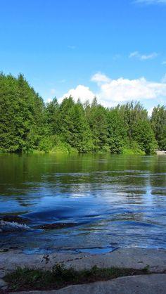 Fluss Kymijoki in Kotka, Finnland