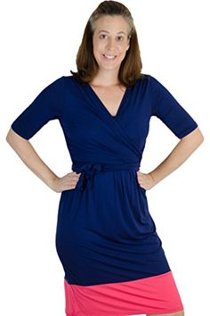 4f70460221b2db Latched Mama Womens Nursing Wrap Dress XXLarge NavyCoral -- Continue to the  product at the