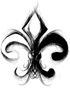 LOVE fleur de lis. this would make a great tattoo. brush strokes and all.....I like the idea of the brush stroke more than the actual tattoo.