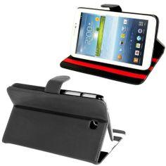 Samsung Galaxy Tab 3 (7.0) PU lederen cover, case, hoes zwart