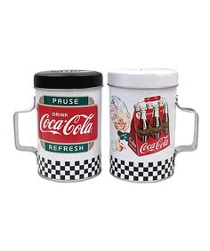This Coca-Cola Tin Salt & Pepper Shakers by Coca-Cola  is perfect! #zulilyfinds