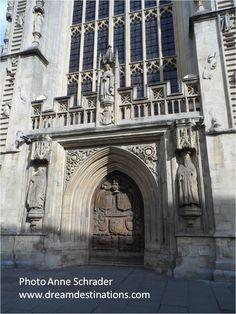 Bath Cathedral Doorway, Bath England