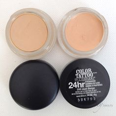 Maybelline Color Tattoo in Just Beige is the perfect dupe of MAC's Soft Ochre: I use as a base. But the best part is I found it at Dollar Tree!!!!!!!! Talk about a savings!