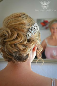 an elegant up wedding up do style using hair extensions wedding hair styling