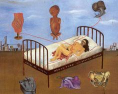 Frida Kahlo. Painting depicting her miscarriage.