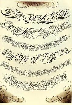 Tattoo Script tatts-inks