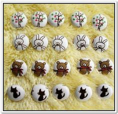 20pcs 13mm Fabric Buttons