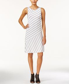 This hip feminine brand dresses todays modern girl. With their effortlessly chic runway inspired looks, the Kensie collection has something for every mood to ta Bias Cut Dress, Review Dresses, Tank Dress, Dresses Online, Fashion Forward, Dresses For Work, Clothes, Striped Tank, Shopping