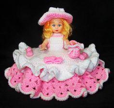 New Pink White Air Freshener Easter Doll Handmade Crocheted Limited Edition   eBay