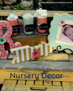 DIY Nursery Decor using the Home+Made line of paper products! Such a fun color combo!