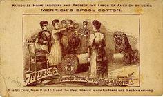 Mama uses Merrick's Thread - Reverse Vintage Ephemera, Vintage Cards, Vintage Images, Vintage Stuff, Haberdashery Shop, Vintage Sewing Notions, Textile Company, Button Cards, Vintage Packaging