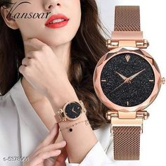 Watches Unique Women Watch Strap Material: Metal Display Type: Analogue Size: Free Size Multipack: 1 Country of Origin: India Sizes Available: Free Size *Proof of Safe Delivery! Click to know on Safety Standards of Delivery Partners- https://ltl.sh/y_nZrAV3  Catalog Rating: ★3.9 (458)  Catalog Name: Unique Women Watches CatalogID_800598 C72-SC1087 Code: 612-5378066-