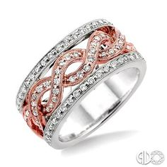 Diamond Fashion Twisted Ring in 14K White and Rose Gold #YesPlease