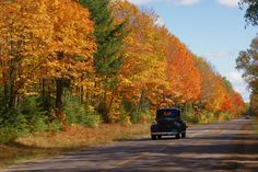 Want to go on an adventure this fall? Rent an old cool car and take these #Wisconsin roads to see the best fall color. Stop at diners along the way!