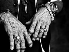 Keith Richard's Hands - The hands of a legend.