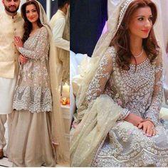 Elegant & ravishing bridal outfit by Mina Hasan #repost#asianbride#pakistanvogue#minahasan