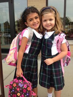 School Wear, Girls School, School Girl Outfit, Girl Outfits, Kids Uniforms, School Uniforms, School Pinafore, Uniform Ideas, Cute Young Girl