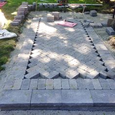Ramblingrenovators.ca | How To Build A Walkway With Pavers, herringbone walkway