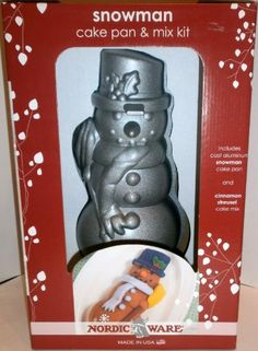 Nordic Ware Snowman Cast Aluminum Cake Pan 6 Cup Capacity American Made USA ** To view further for this item, visit the image link.