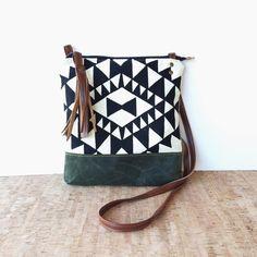 weekdayer  large  crossbody bag  geometric print  by RACHELelise