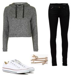 """""""Untitled #78"""" by tornado55 ❤ liked on Polyvore featuring Topshop, Yves Saint Laurent, Converse and Chloé"""