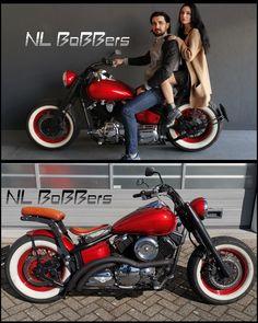 Motos Bobber, Virago Bobber, Honda Bobber, Bobber Bikes, Cafe Racer Motorcycle, Motorcycle Art, Motorcycle Design, Bike Design, Custom Bobber