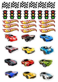 Bolo Hot Wheels, Hot Wheels Cake, Hot Wheels Party, Hot Wheels Birthday, Race Car Birthday, Cars Birthday Parties, Cake Birthday, Anniversaire Hotwheels, Imprimibles Hot Wheels