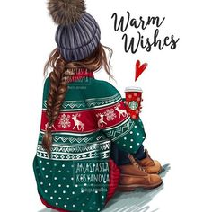 Warm Holiday Wishes? CHRISTMAS collection for my shop . Warm Holiday Wishes? Christmas Quotes, Christmas Pictures, Christmas Art, Winter Christmas, Christmas Morning, Xmas Holidays, Christmas Fashion, Christmas Ideas, Christmas Sketch