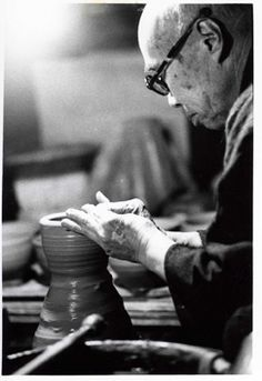 Shoji Hamada throwing a tea ceremony bowl, ca. Mashiko, Japan Image from Susan Harnly Peterson Archive<br /> Japanese Ceramics, Japanese Pottery, Japan Image, Japanese Aesthetic, Pottery Making, Pottery Studio, Tea Ceremony, Japanese Artists, Ceramic Artists