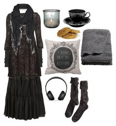 """""""Longing for comfort"""" by n-nyx ❤ liked on Polyvore featuring H&M, Polder, AllSaints, Rick Owens, Emma Bridgewater and Beats by Dr. Dre"""