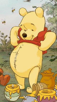 Cute Patterns Wallpaper, Cute Disney Wallpaper, Watch Cartoons, Disney Cartoons, Marijuana Wallpaper, Profile Wallpaper, Iphone Background Wallpaper, Pooh Bear, Cute Bears