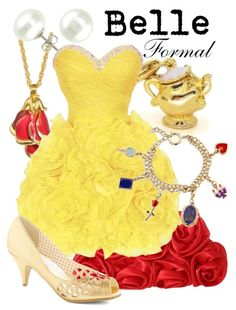 Formal outfit inspired by Belle from Beauty and the Beast!