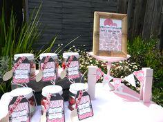 Pink safari girl baby shower Invitation and Favors