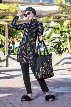 New Peafowl Burkini Islamic Swimwear, Peafowl, Elegant, Stylish, Lady, Women, Fashion, Formal Dresses, Classy