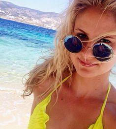 Michelle living it up in Greece in our Vatera bikini ☀️ Www.neyku.com
