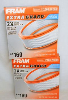 2 Fram Extra Guard Air Filters Engine Protection New In Box   Busy Bee  Variety EBay Store
