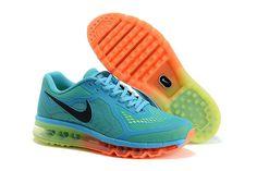 Nike Air Max 2014 LG Lysblå Grøn Orange Herresko